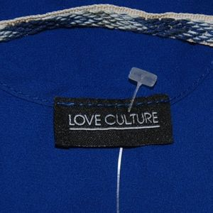 NWT Royal Blue Love Indigo Strap Blouse Sz S